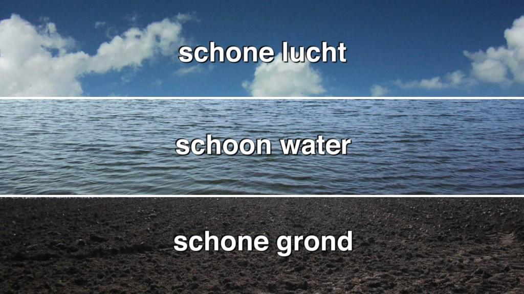 Drieluik lucht, water, grond