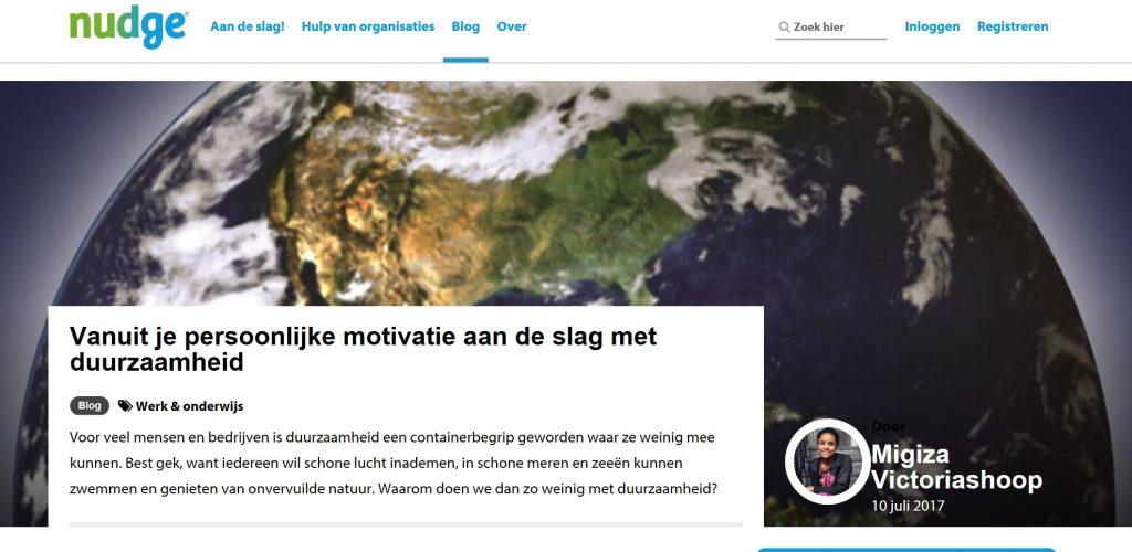 afbeelding nudge artikel Vanuit je persoonlijke motivatie aan de slag met duurzaamheid