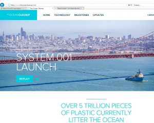 screen van homepage ocean cleanup