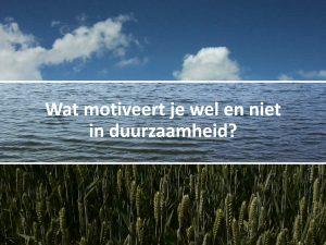 foto BEGIN workshop sheet met vraag wat motiveert je wel en niet aan duurzaamheid