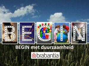 afbeelding BEGIN met duurzaamheid met Brabantia logo