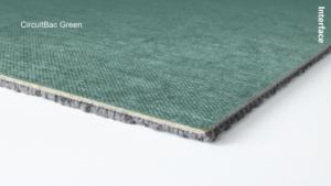 afbeelding Circuit Green tapijttegel -aangep. formaat
