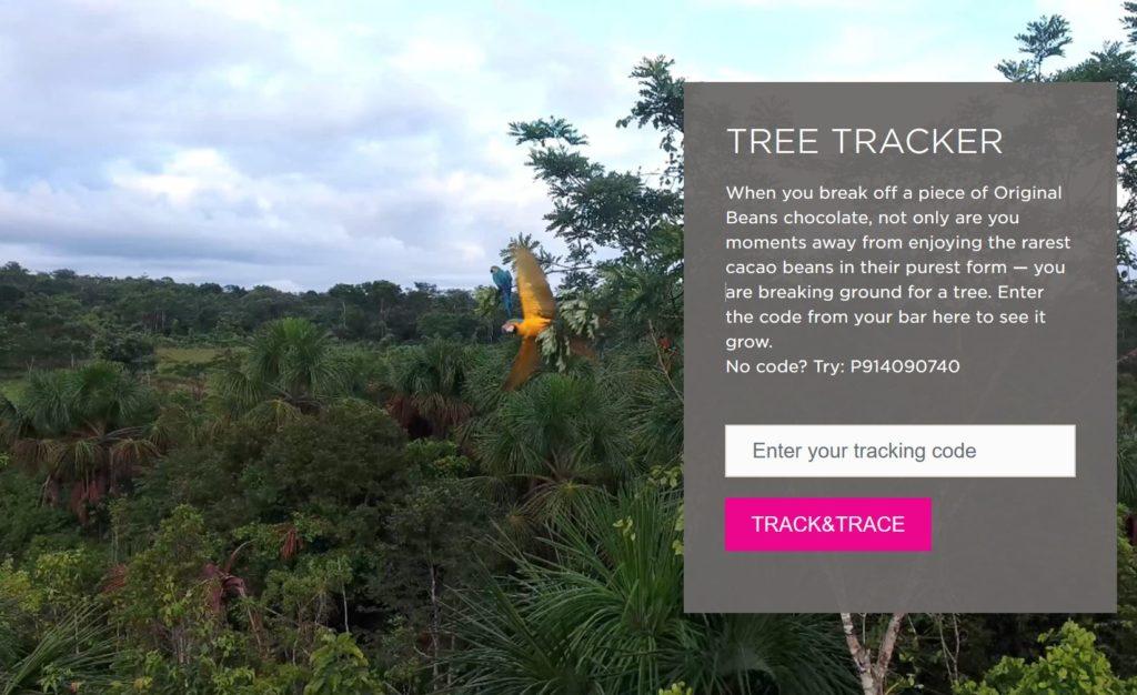 Knipsel Tree Tracker met papegaaien