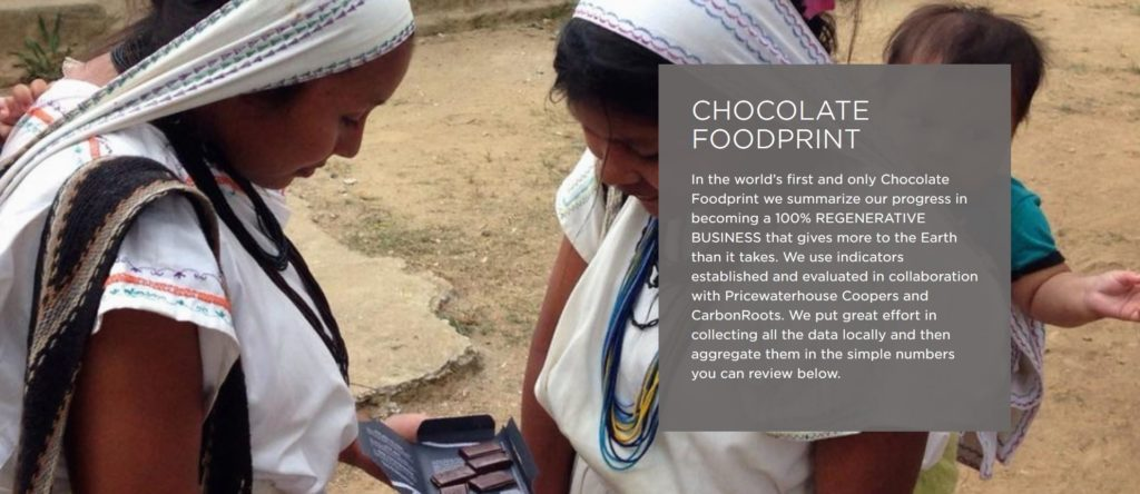 Knipsel chocolate foodprint